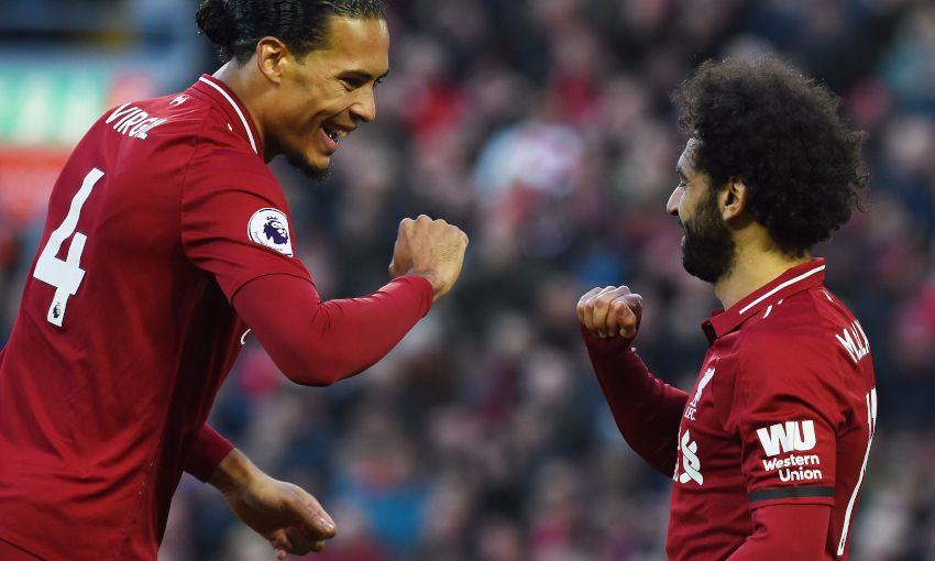 VIRGIL VAN DIJK MOHAMED SALAH BOURNEMOUTH