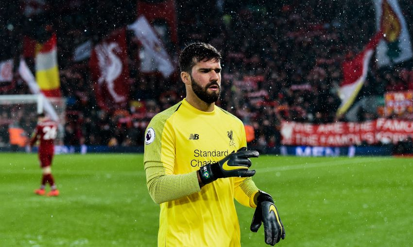 Alisson Becker at Anfield