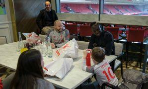 Sadio Mane meets LFC Foundation fundraising competition winners