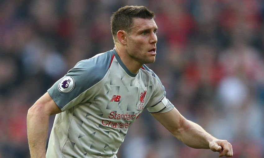 Liverpool midfielder James Milner