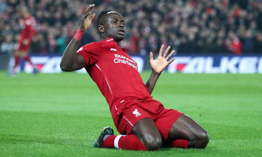 Sadio Mane celebrates, Liverpool v Watford