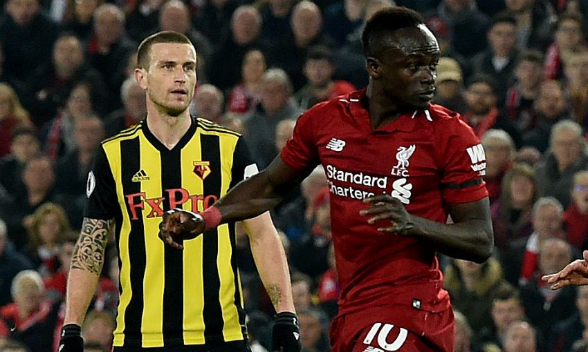 Sadio Mane scores for Liverpool FC for Watford