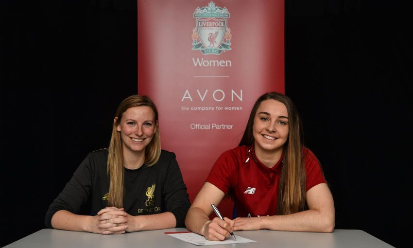 Niamh Charles signs new Liverpool FC Women contract