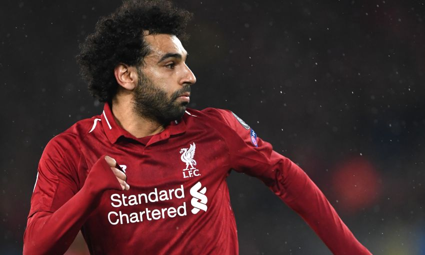 Mohamed Salah in action for Liverpool