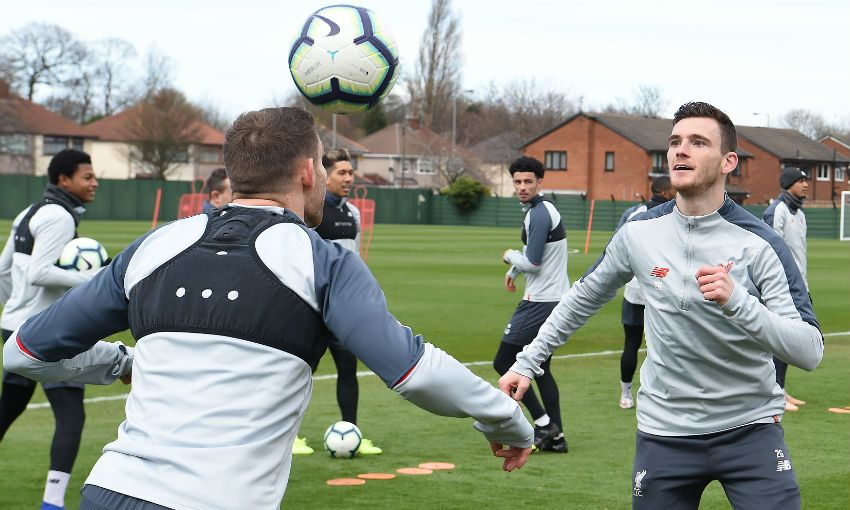 Liverpool FC training session