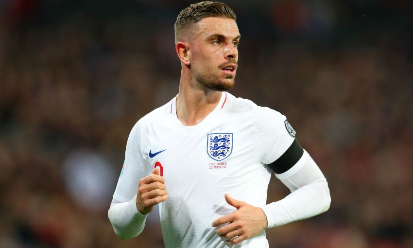 Jordan Henderson of Liverpool FC and England