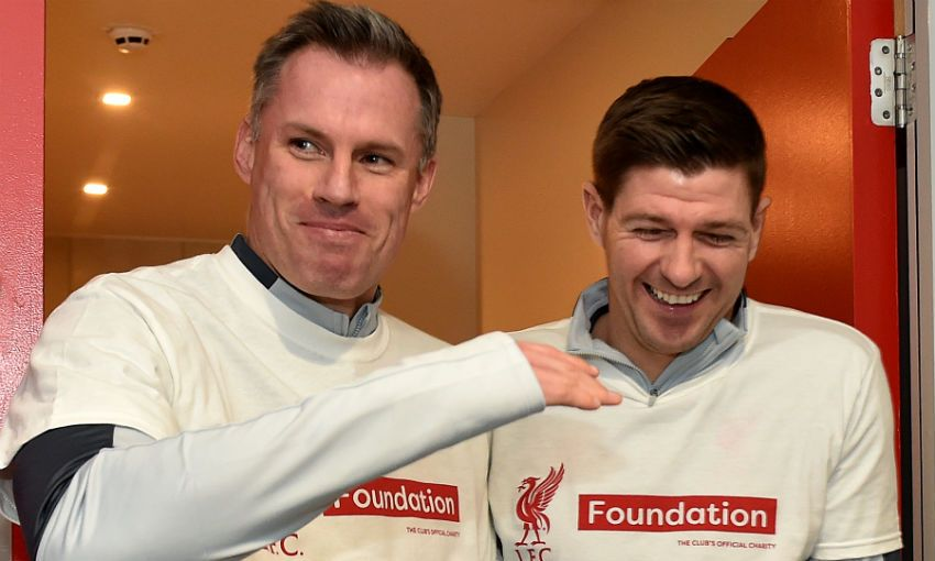 Steven Gerrard and Jamie Carragher, Liverpool FC legends