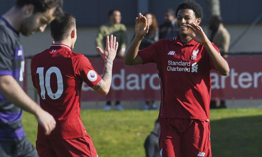 Rhian Brewster and Liverpool U23s