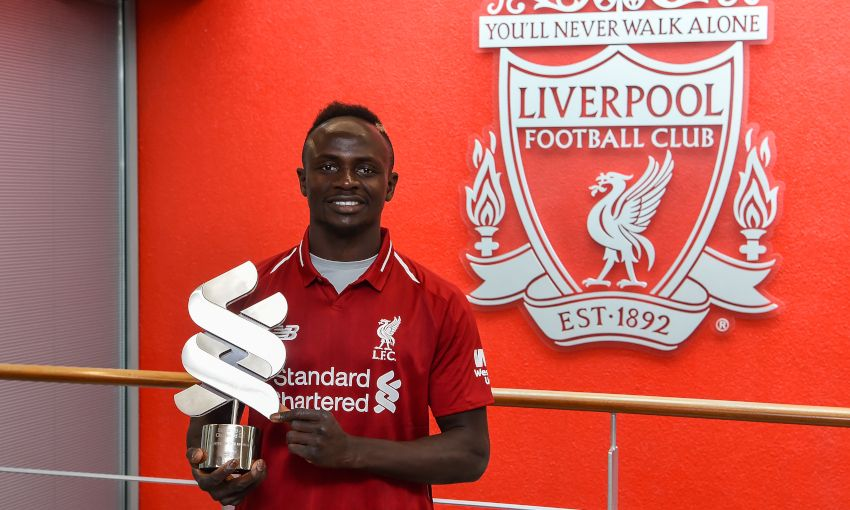 Sadio Mane wins March Player of the Month