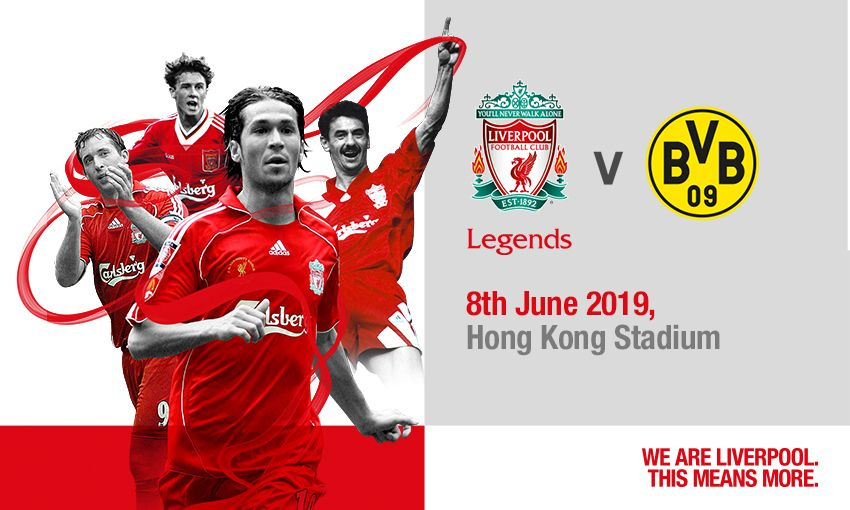 Liverpool FC Legends v Borussia Dortmund in Hong Kong