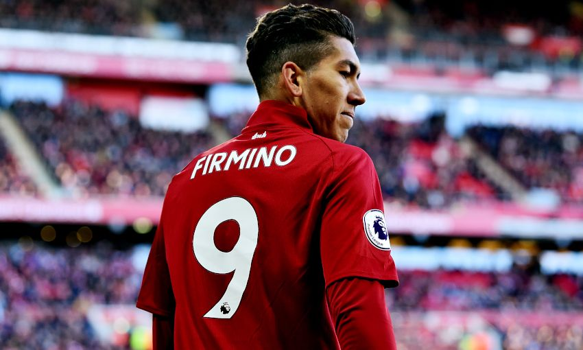Roberto Firmino in action for Liverpool