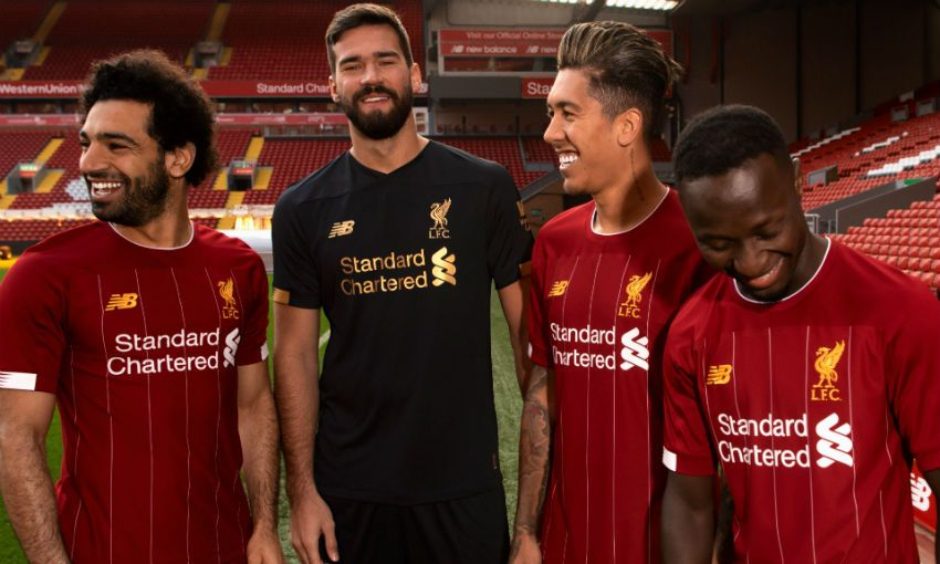 0c90a531e Gallery: Reds players model new home kit for 2019-20 - Liverpool FC