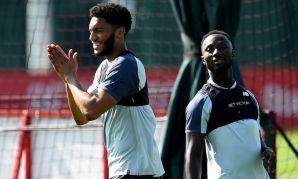 Joe Gomez in Liverpool training