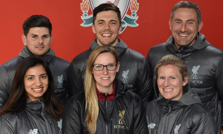 New Liverpool FC Women backroom team