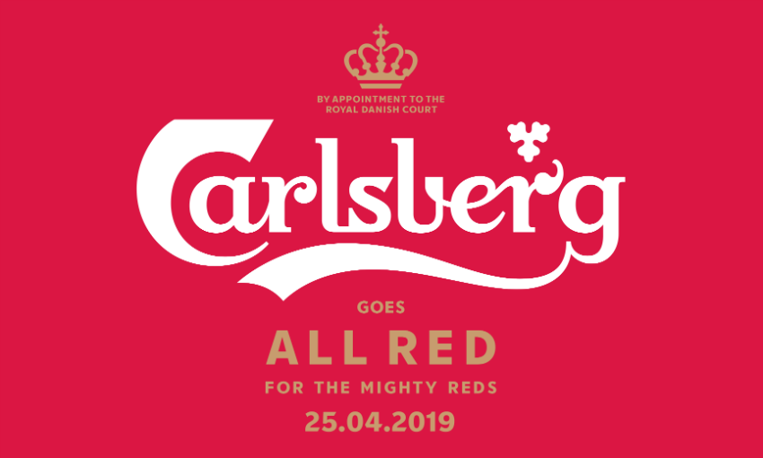Carlsberg goes all red