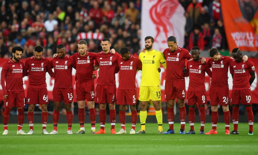 Moment's silence observed in memory of Tommy Smith at Anfield