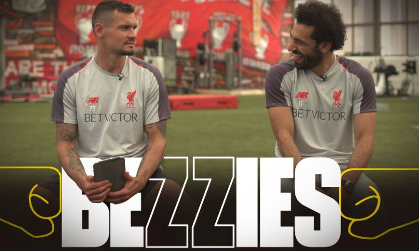 Mohamed Salah and Dejan Lovren take 'Bezzies' test