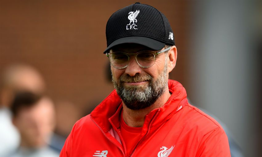 Jürgen Klopp at Melwood before Barcelona