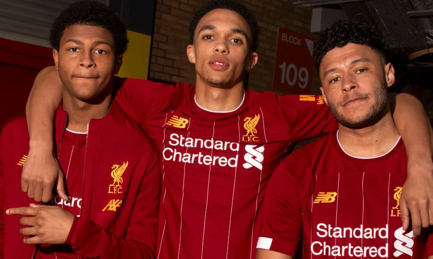 1e6c5758c Rhian Brewster, Trent Alexander-Arnold and Alex Oxlade-Chamberlain model  the 2019-. Next article. Liverpool FC's 2019-20 New Balance training kit