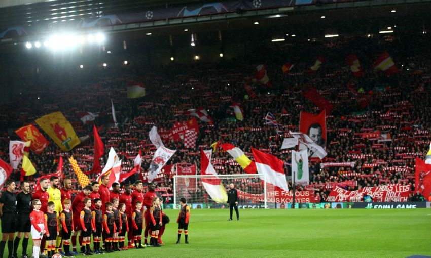 The Kop on a Champions League night