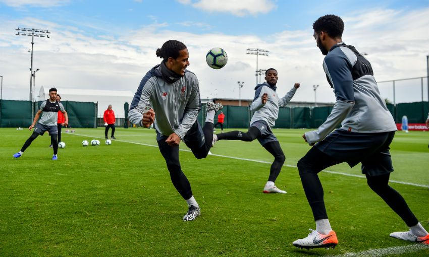 Liverpool FC training session, Melwood, May 10, 2019