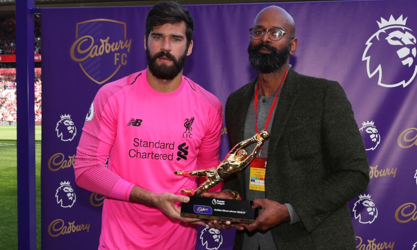 Alisson Becker wins Premier League Golden Glove
