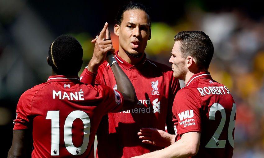 Sadio Mane goal celebration against Wolves