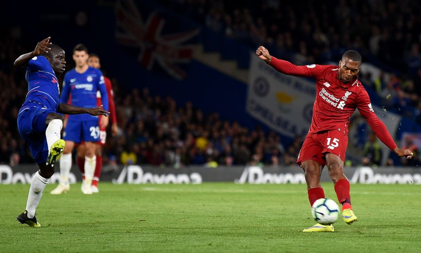 Daniel Sturridge scores against Chelsea