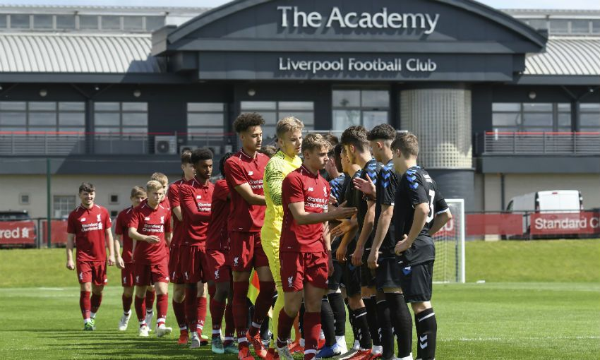 Liverpool U18s against Middlesbrough