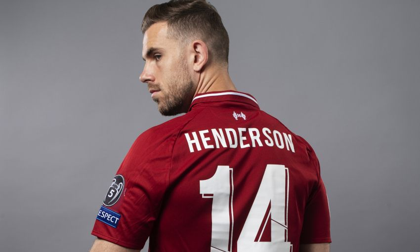 Jordan Henderson at a UEFA photoshoot