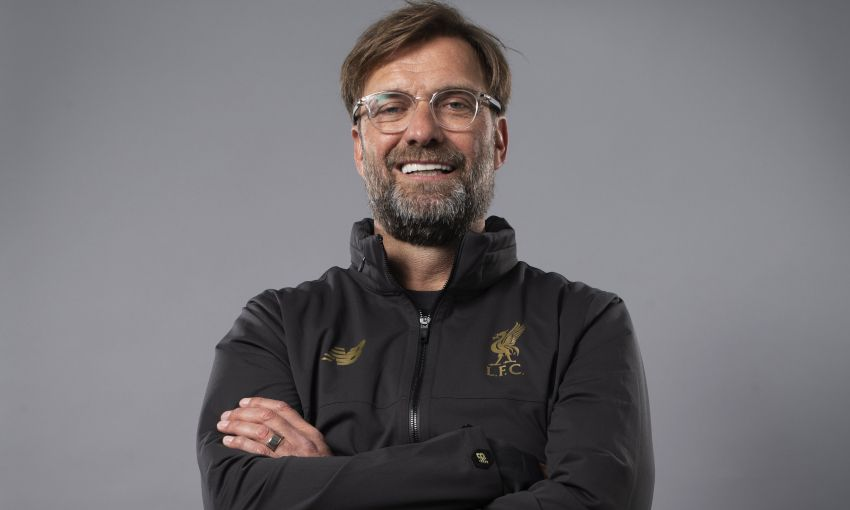 Jürgen Klopp at a UEFA photoshoot