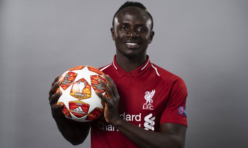 Sadio Mane at a UEFA photoshoot