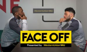 Daniel Sturridge and Alex Oxlade-Chamberlain star in Western Union's Face Off