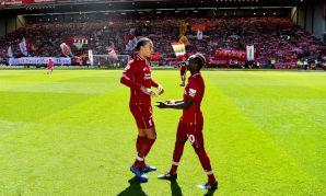 Sadio Mane and Virgil van Dijk at Anfield