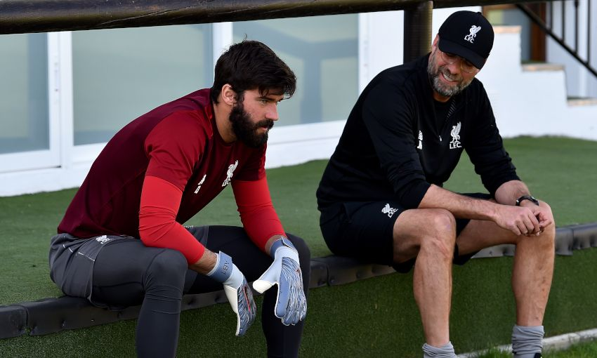 Alisson Becker and Jürgen Klopp