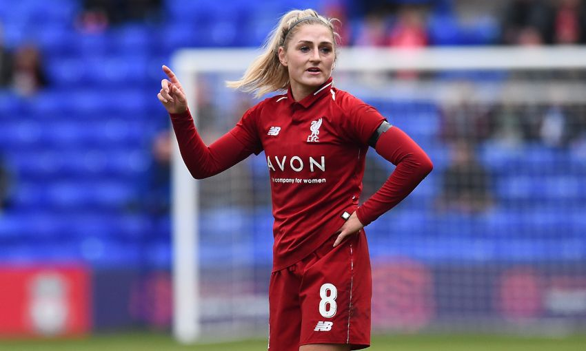 Laura Coombs in action for Liverpool FC Women