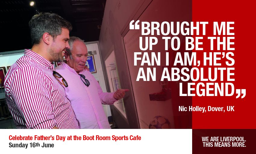 Father's day at Boot Room Sports Cafe