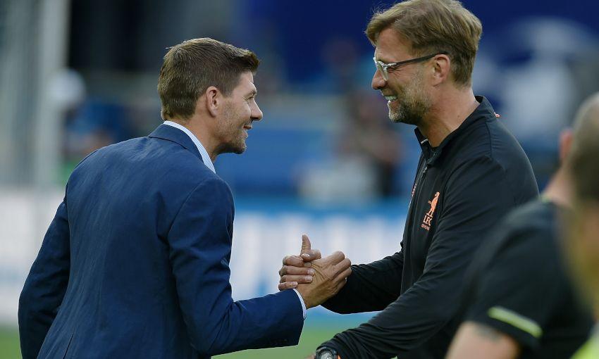 Steven Gerrard and Jürgen Klopp