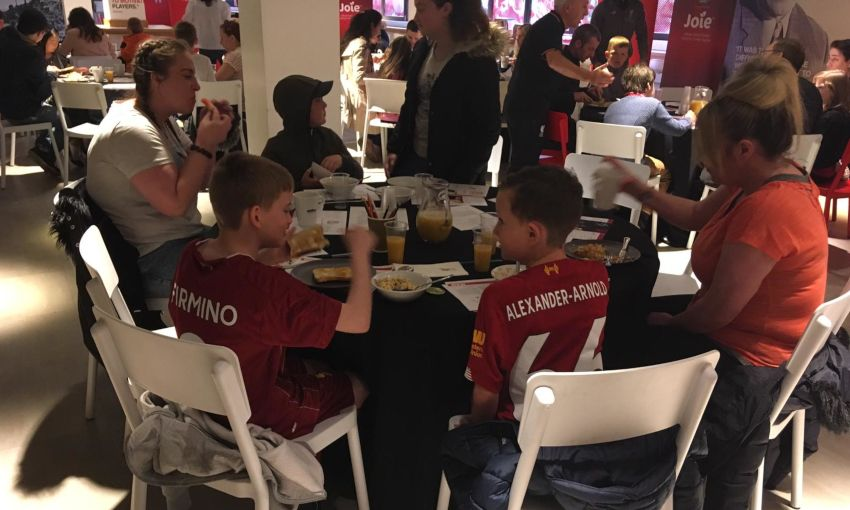 Local families attend Red Neighbours' breakfast clubs at Anfield