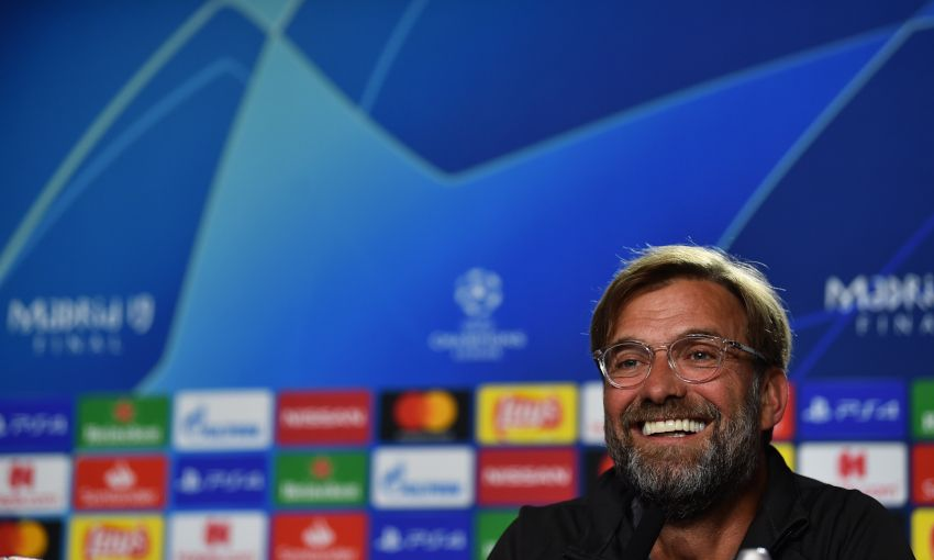 Jürgen Klopp at his pre-Champions League final press conference