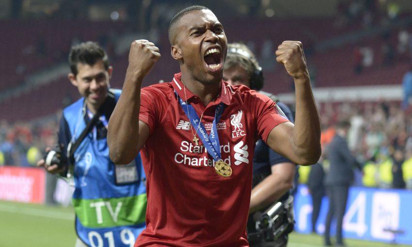 Daniel Sturridge celebrates at the Champions League final