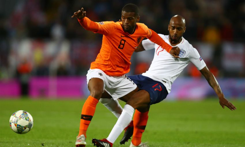 Georginio Wijnaldum UEFA Nations League against England