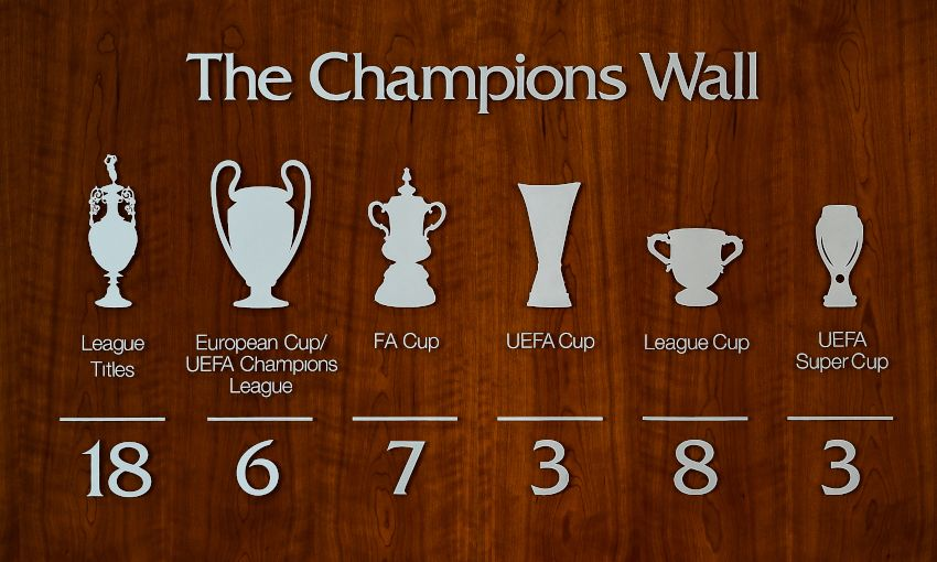 Champions Wall at Melwood updated with sixth European Cup