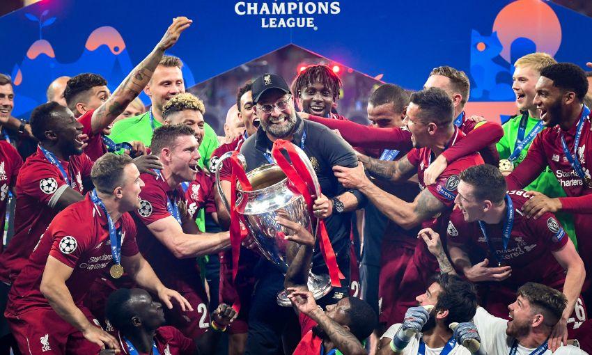 Jürgen Klopp lifts the European Cup for Liverpool