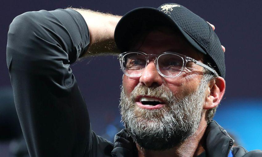 Jürgen Klopp celebrates after winning the Champions League final