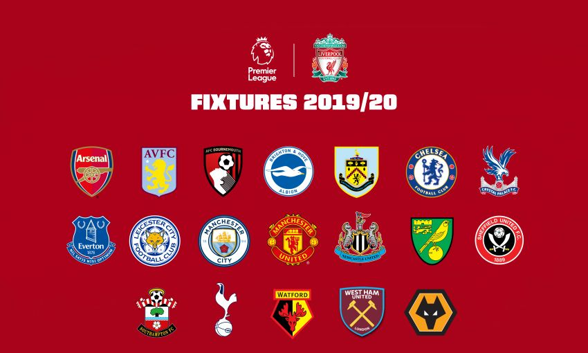 Liverpool's 2019-20 Premier League fixtures