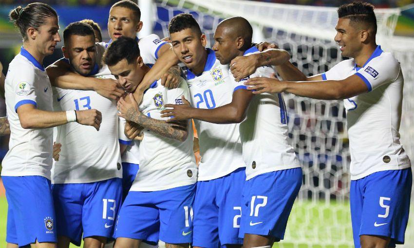 Brazil celebrate a goal in Copa America 2019 opener versus Bolivia