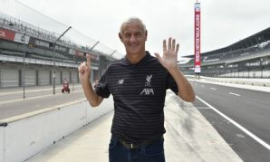 Ian Rush visits home of Indy 500