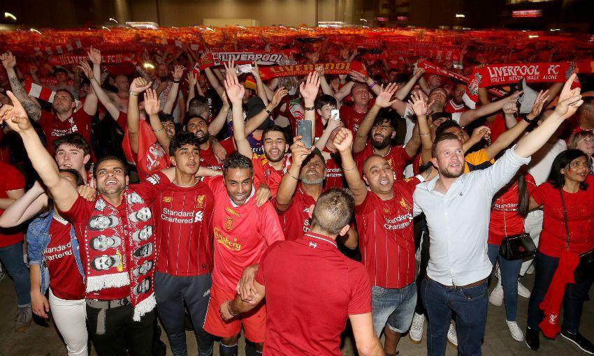 Liverpool fans celebrate Champions League triumph
