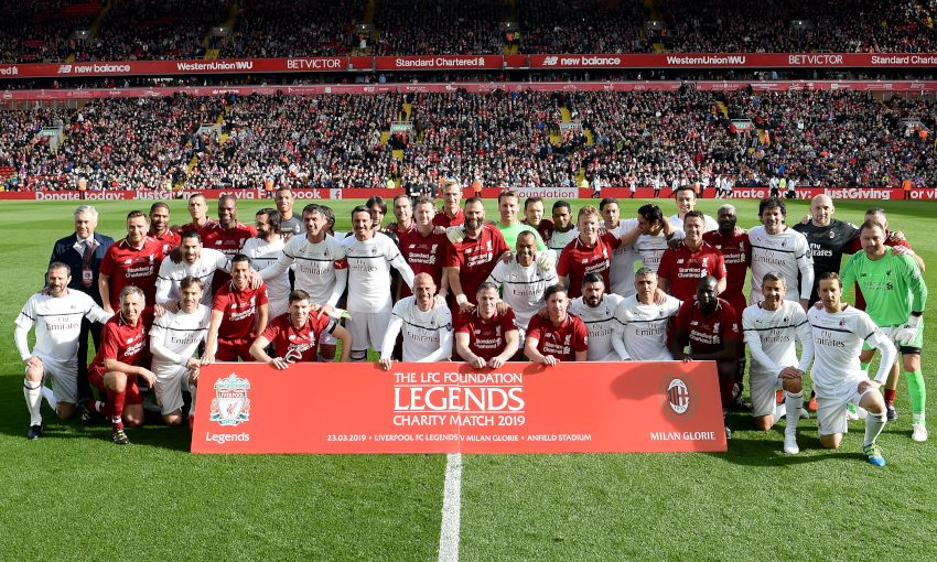 Liverpool FC Legends and Milan Glorie at Anfield